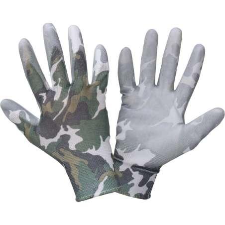 Rękawice ogrodowe damskie moro poliuretan Lahti Pro L2313