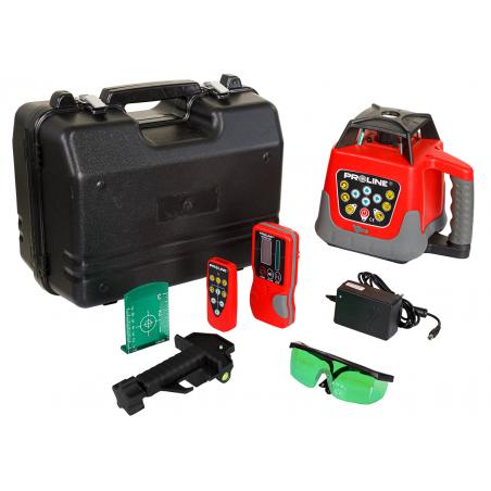 Laser rotacyjny samopoziomujący zielony do 500m Proline 15162