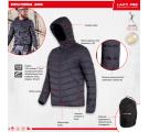 Męska kurtka przejściowa pikowana czarna Lahti Pro L40936
