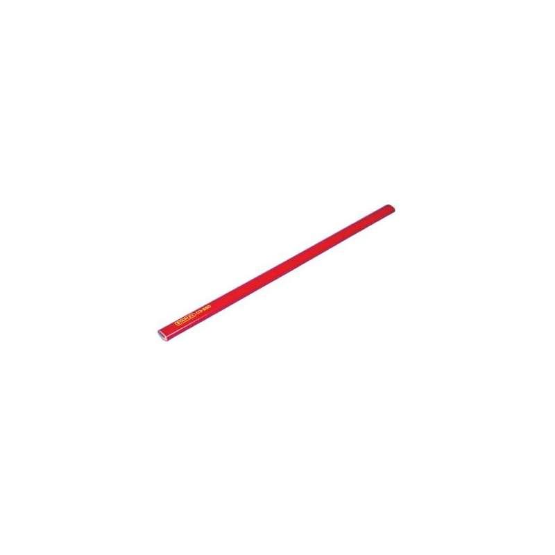 ołówek ciesielski miękki 18cm czerwony hb stanley 03-850