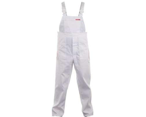 quest spodnie robocze ogrodniczki białe lahtipro lpqd