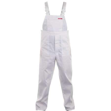Quest spodnie robocze ogrodniczki białe Lahti Pro LPQD