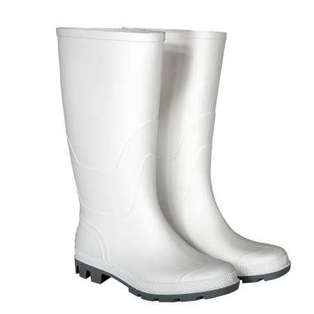 Kalosze wysokie białe gumowce bez podnoska S30703