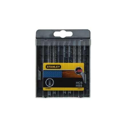 Brzeszczoty do wyrzynarki U 10szt drewno metal PCV Plexi Stanley STA28020