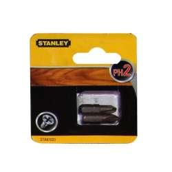 Bity końcówki wkrętarskie Phillips PH2 25mm 2szt Stanley STA61021