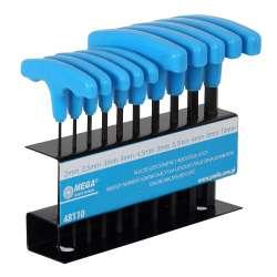 klucze imbusowe t 2-10mm zestaw 10el. mega 48110