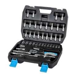 Zestaw kluczy nasadowych 46 elementów 14'' 4-14mm Mega 58046