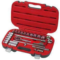Klucze nasadowe 1/2 zestaw 25 elementów 8-32mm Proline 58725