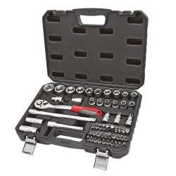 """Zestaw kluczy nasadowych 56 elementów 1/2"""" CRV Proline 58856"""
