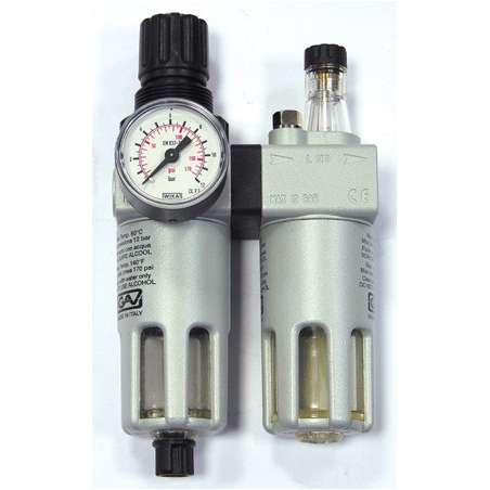 GAV Reduktor ciśnieniowy z filtrem i naolejaczem FRL-200 38 cala