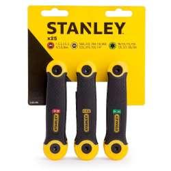 Zestaw 25 elementów Klucze HEX 1,5-6,4mm + TORX T9-T40 Stanley 692682