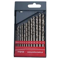 Wiertła do metalu HSS szlifowane 1,5-6,5mm zestaw 13 elementów Proline 77213