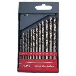 wiertła do metalu hss szlifowane 1.5-6.5mm zestaw 13el. proline 77213