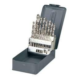 wiertła do metalu hss szlifowane 1.0-10.0mm zestaw 19el. proline 77219