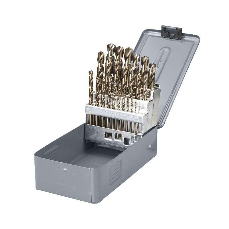 wiertła do metalu hss-co 5% 1.0-13.0mm zestaw 25el. proline 78225