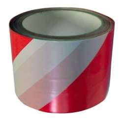 taśma ostrzegawcza biało czerwona 75mm 100m profix 13163