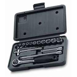 klucze nasadowe 1/4cala 4-14mm zestaw 15el. stanley 86-775