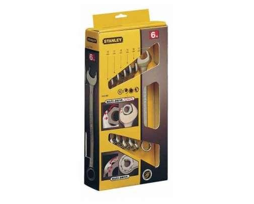klucze płasko oczkowe 6szt 10-17mm stanley maxi-drive 87-053