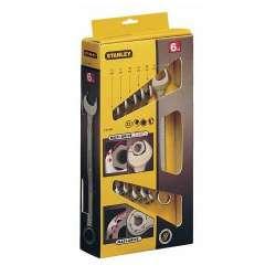 klucze płaskooczkowe 8szt 8-22mm stanley maxi-drive 87-054