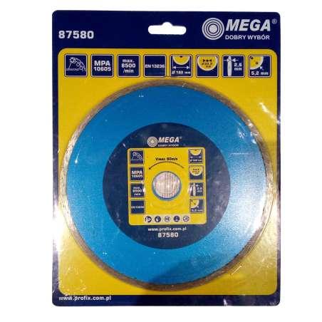 Tarcza diamentowa pełna 180x4,6x22mm Mega 87580