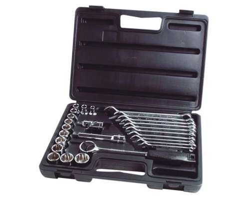zestaw kluczy nasadowych 1/2 i płasko-oczkowych 26el. stanley 89-105