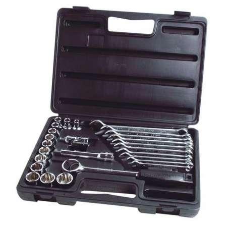Zestaw kluczy nasadowych 12 i płasko-oczkowych 26el. Stanley 89-105