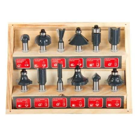 Frezy do drewna 8mm zestaw 12 elementów Proline 93122