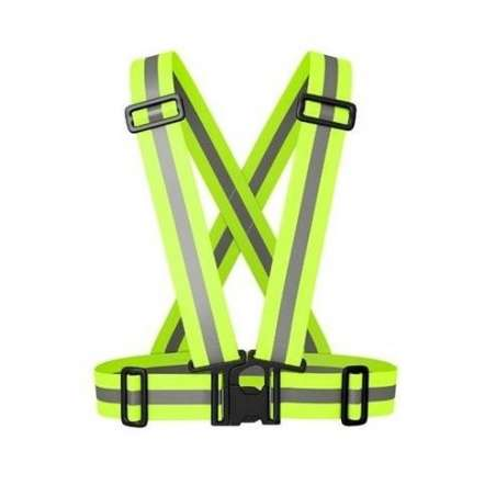 Szelki odblaskowe elastyczne regulowane żółte Lahti Pro L9010200