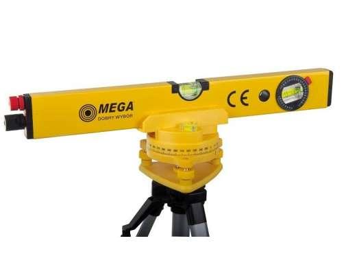 laserowa poziomnica 400mm + statyw 45-100cm mega 15142
