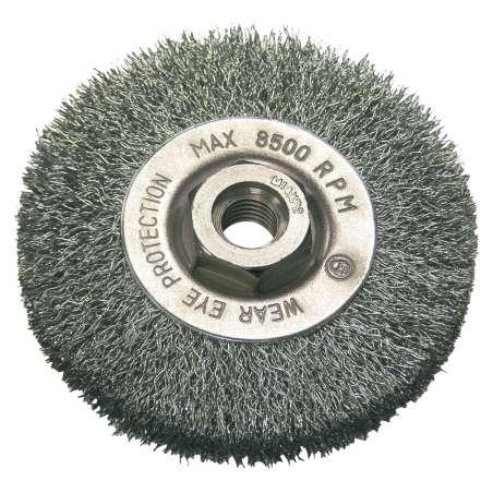 Szczotka tarczowa z drutu falowanego z gwintem M14 100mm Proline 32520