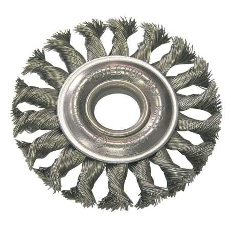 Szczotka tarczowa z drutu skręcanego z otworem 22mm 100mm Proline 32550