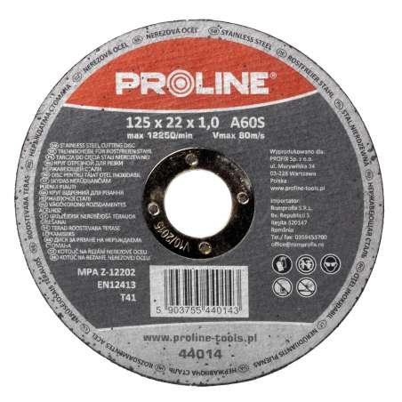 Tarcza do cięcia stali kwasoodpornej 115x1,0x22mm Proline 44013
