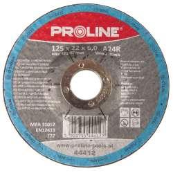 Tarcza do szlifowania metali wypukła 115x6,0mm Proline 44411