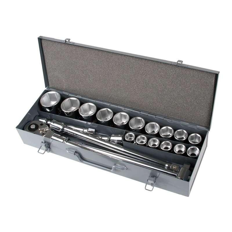 klucze nasadowe 3/4 19-50mm crv  zestaw 21el. proline 18811