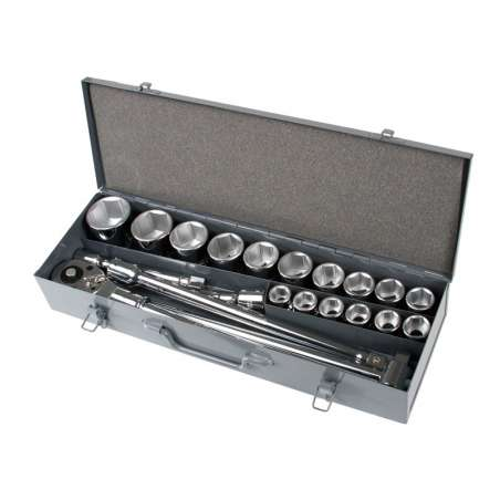 Klucze nasadowe 34 19-50mm CrV  Zestaw 21el. Proline 18811