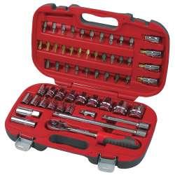 Klucze nasadowe 12 zestaw 56 elementów 8-32mm Proline 58756