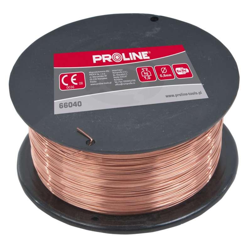 Drut spawalniczy stalowy miedziowany 0,6mm 1kg Proline 66040