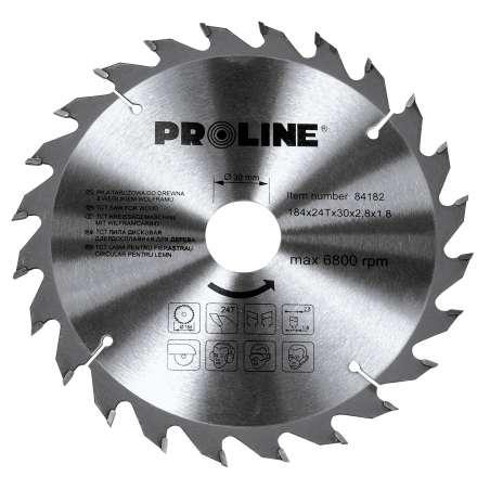 Piła tarczowa z węglikiem spiekanym do drewna 130 mm 24 zęby Proline 84132