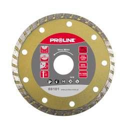 Tarcza diamentowa Super Turbo (materiały budowane) 115x2,0x7,5x22,23 Proline  88101