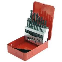 wiertła do metalu hss 1.0-10.0mm zestaw 19el. pudełko metalowe mega 26219