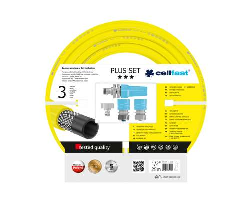 Zestaw zraszający do podlewania z wężem 12 cala rolka 25m CellFast PLUS