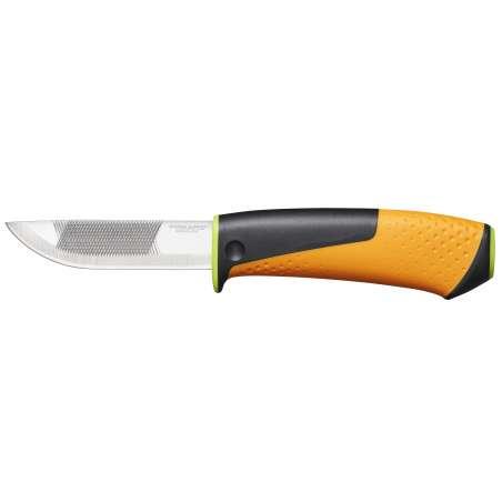 Nóż o zwiększonej  wytrzymałości z ostrzałką 219mm zielony Hardware Fiskars F1023619