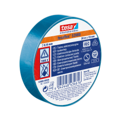 Taśma elektroizolacyjna 5000V PCW 20m:19mm niebieska H5398836