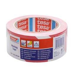 Taśma samoprzylepna ostrzegawcza czerwono-biała 33m:50mm Tesa H6076092