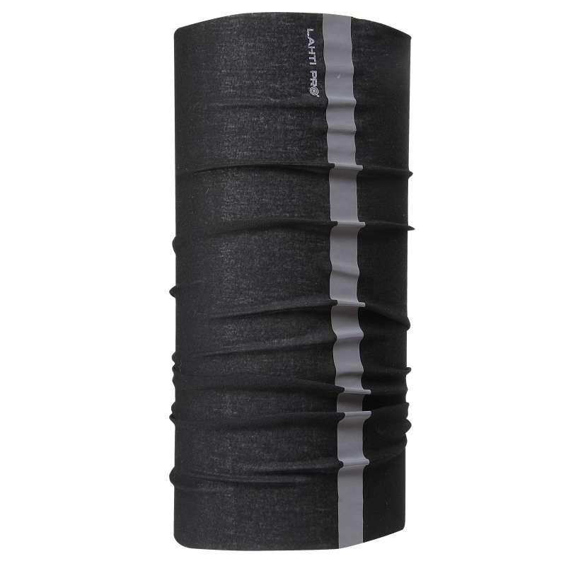 Chusta bandana opaska czarna z odblaskiem Lahti Pro L1030300