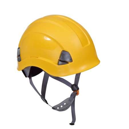 Hełm ochronny do pracy na wysokości żółty Lahti Pro L1040402
