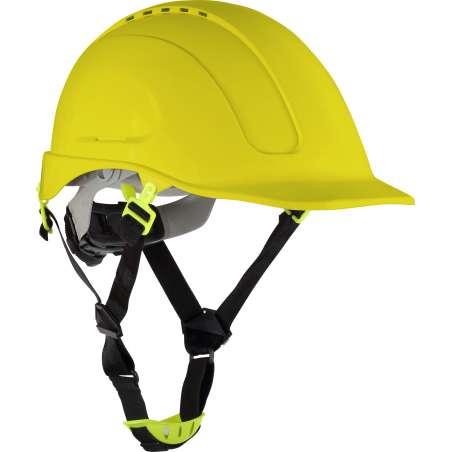 Hełm przemysłowy wentylowany żółty Lahti Pro L1040502