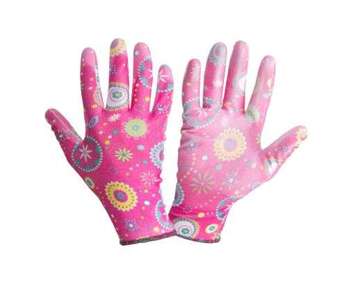 Rękawice ogrodowe różowe Lahti Pro L2303