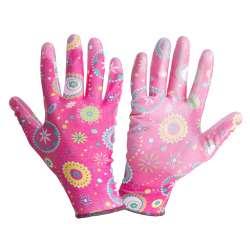Rękawice ogrodowe różowe...
