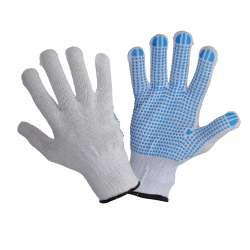 Rękawice nakrapiane biało niebieskie 12 par Lahti Pro L240410W
